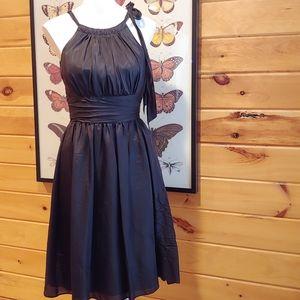 WHBM Silk Halter Side Tie Party Dress